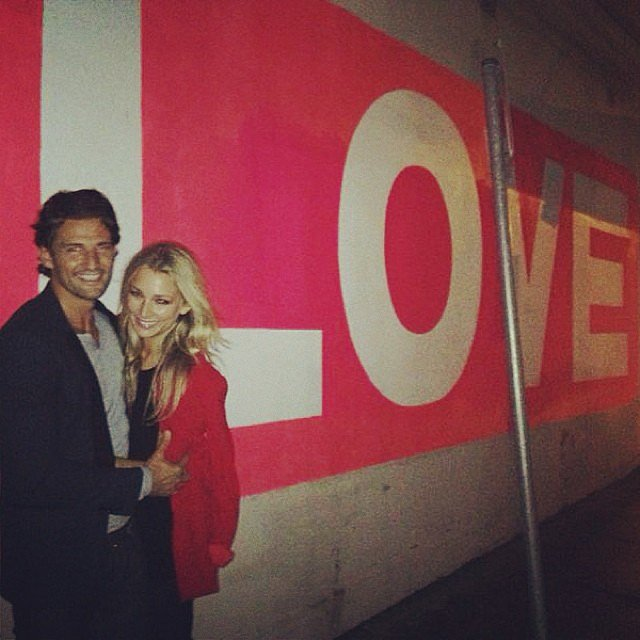 Well that's an appropriate wall sign for the lovebirds. Source: Instagram user annaheinrich1