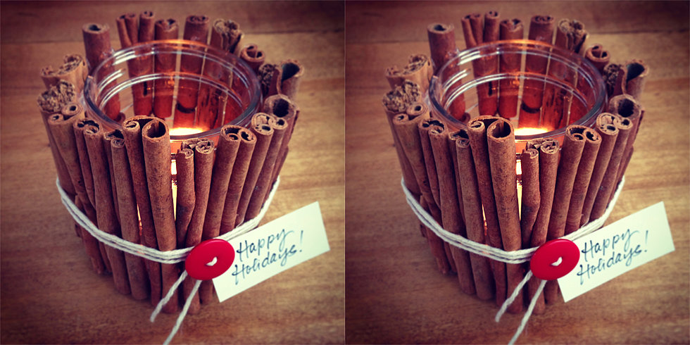 Quick Gift: Cinnamon-Stick Candle Votive