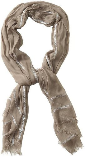 Spun by Subtle Luxury Metallic Border Scarf