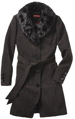 Merona® Women's Faux Fur Collar Luxe Coat -Animal Print