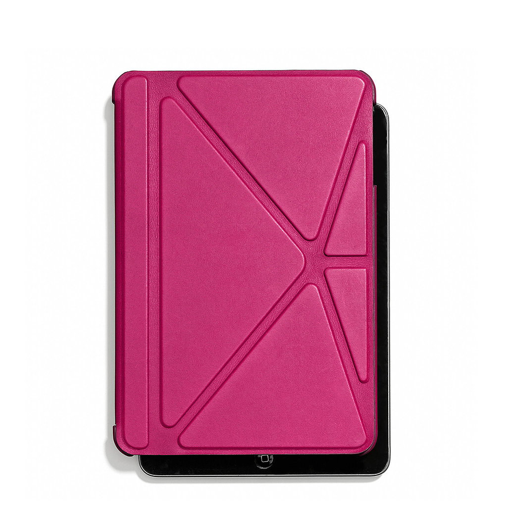 The only thing we like more than the hot pink hue of this Coach iPad mini case ($168) is how the leather-clad cover folds like origami to create a stand for the device.