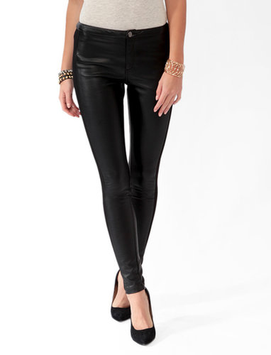 FOREVER 21 Paneled Faux Leather Pants