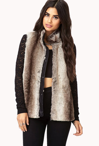 FOREVER 21 Chic Faux Fur Vest