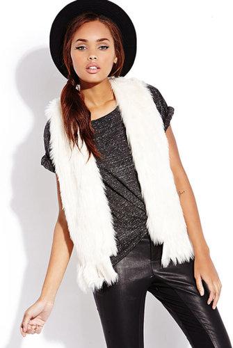 FOREVER 21 Rock On Faux Fur Vest