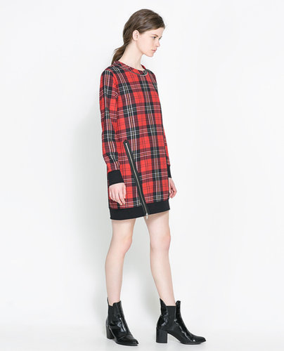Checked Dress With Zips