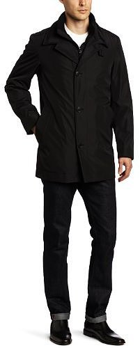 Calvin Klein Men's Trench Jacket With Bib Front