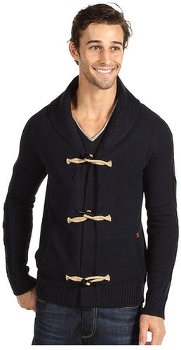 J.C. Rags - Multi Gauge Toggle Cardigan (Dark Navy) - Apparel