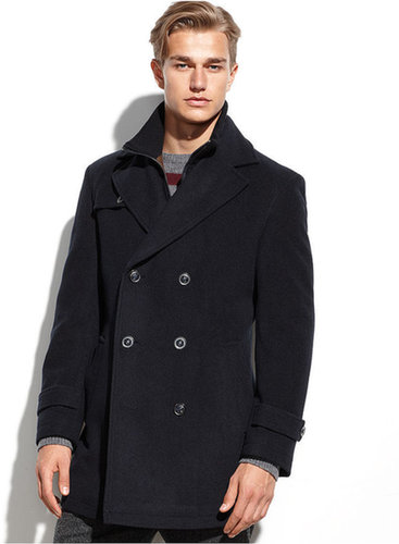 Lauren Ralph Lauren Lauren by Ralph Lauren Coat, Labrada Double-Breasted Wool-Blend Peacoat