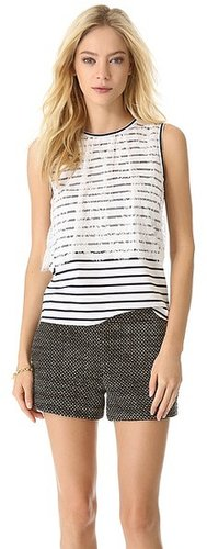 Leur logette Pullover Stripe Tank with Lace