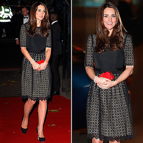 Kate Middleton in Temperley at SportsAid Ball