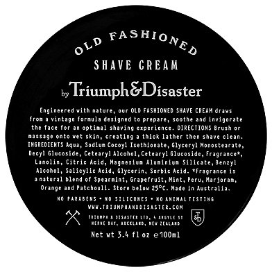 Triumph & Disaster - Old Fashioned Shave Cream Jar - 100m