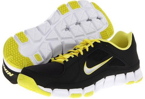 Nike - Flex Show TR (Black/Sonic Yellow/Metallic Silver) - Footwear