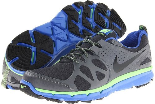 Nike - Flex Trail (Anthracite/Game Royal/Electric Green/Black) - Footwear