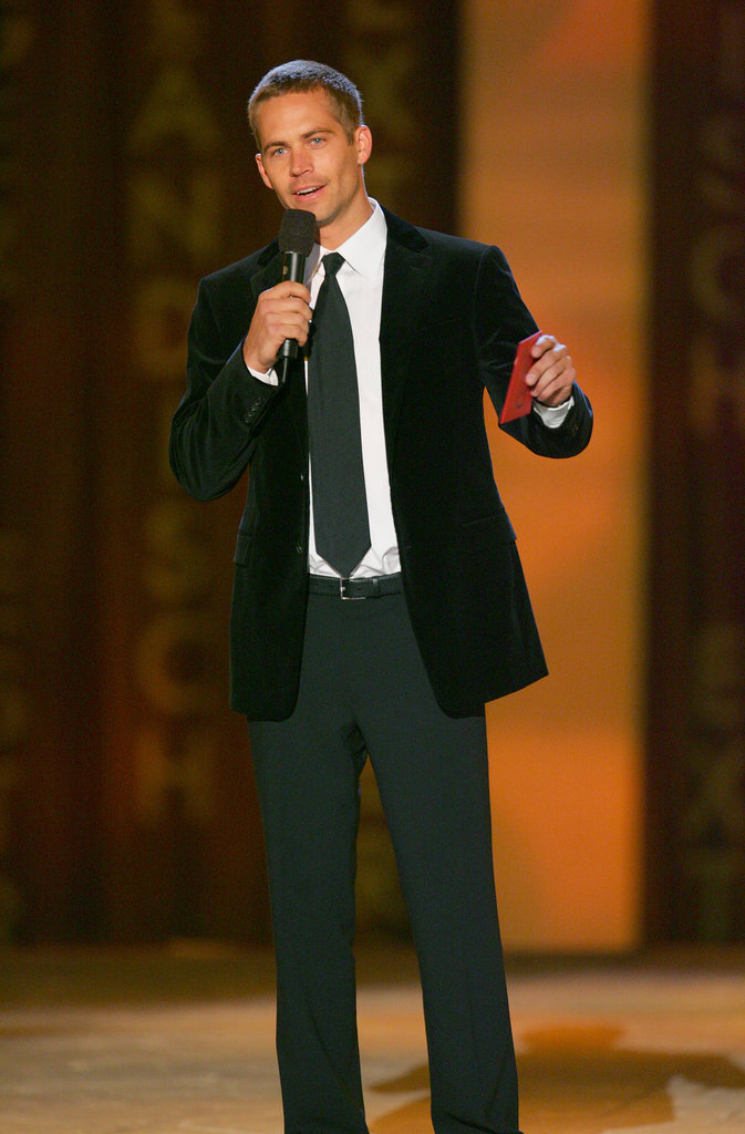 He spoke on stage during the Taurus World Stunt Awards in LA in September 2005.