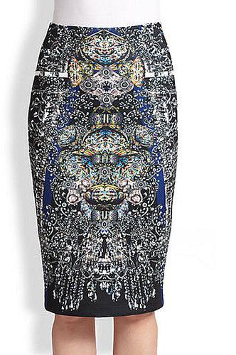 Clover Canyon Printed Neoprene Pencil Skirt
