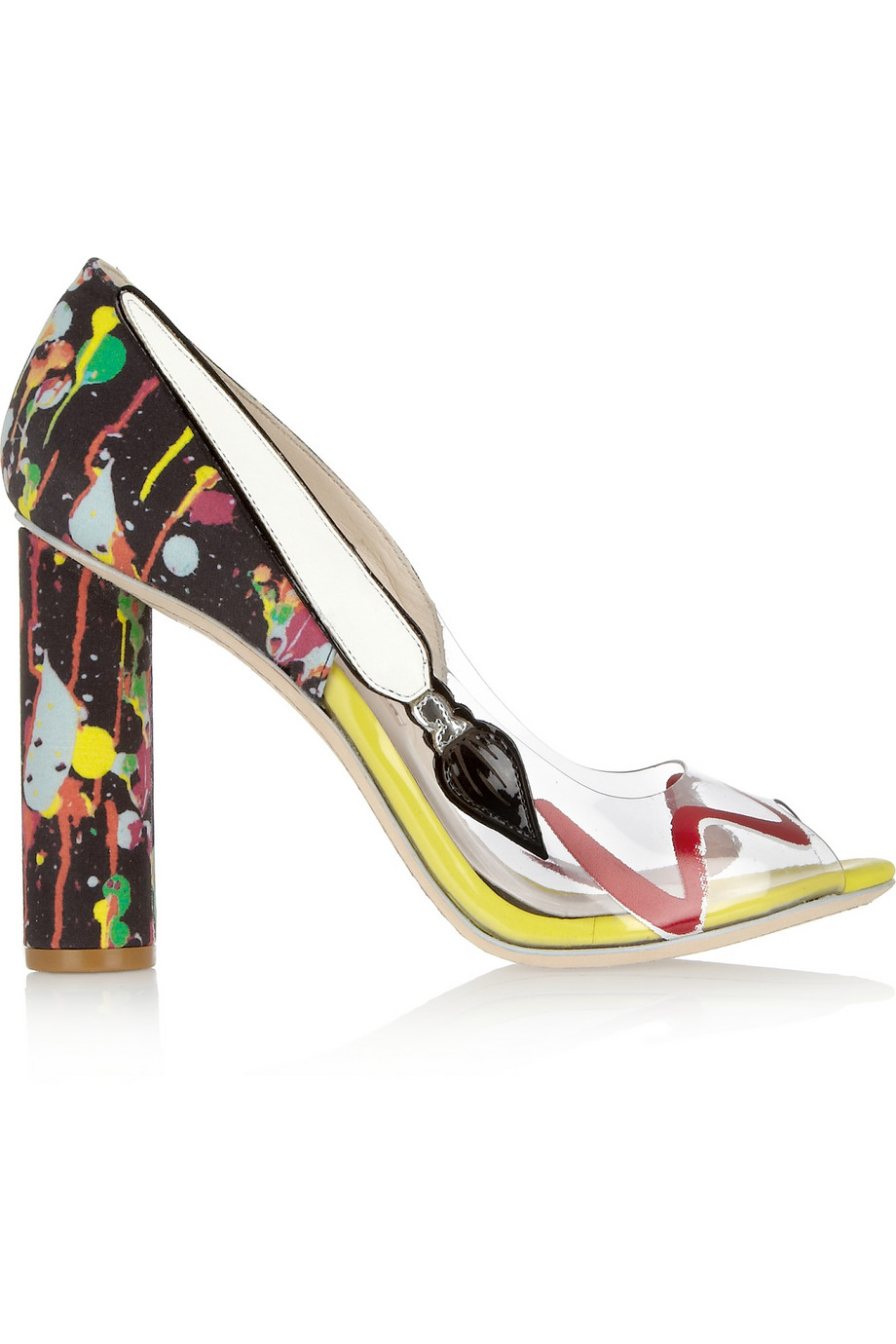 Sophia Webster Party Like Pollock Satin and PVC Pumps ($288, originally $575)