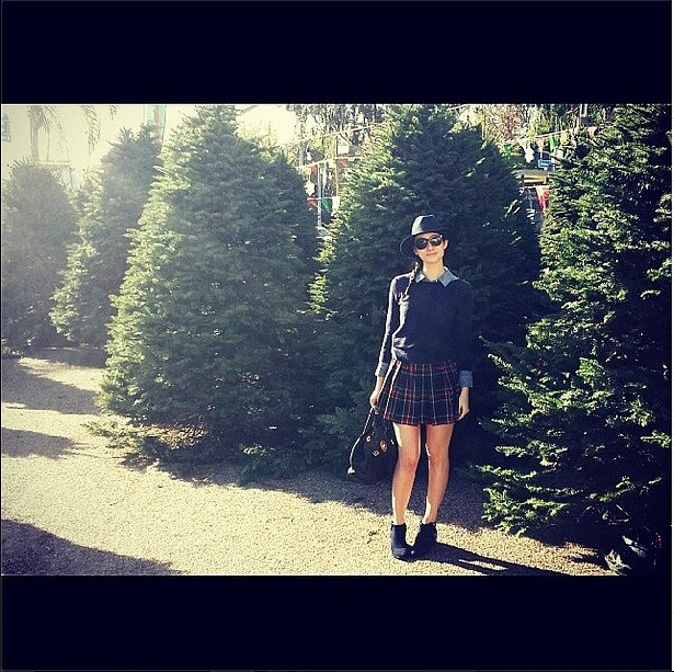 Tree hunting in plaid? Emmy Rossum is a lumberjack's dream girl. Source: Instagram user emmyrossum