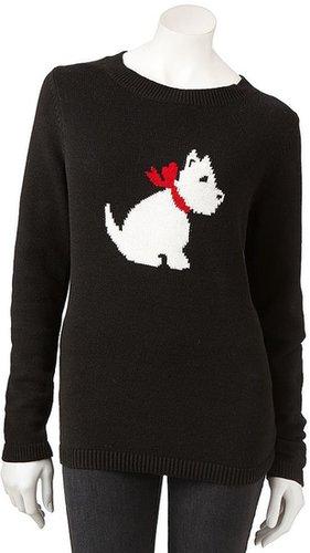 Croft & barrow ® scottie dog holiday sweater