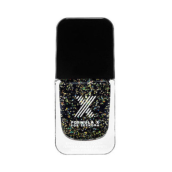 If you're a fan of black lacquer, why not try Formula X For Sephora Superwatts in Explosive ($13) for a festive take on a dark manicure.