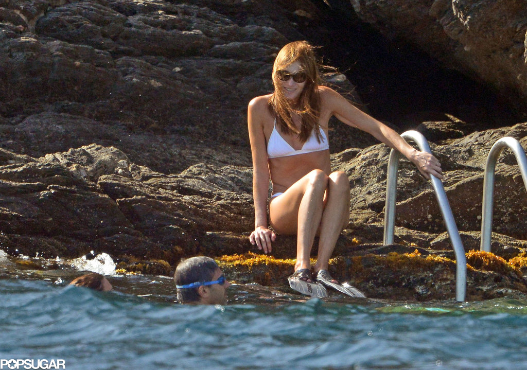 In August, Carla Bruni tested the waters in Cap Negre, France.