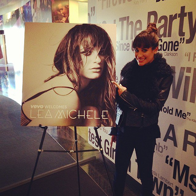 Lea Michele snapped a picture with the cover art for her upcoming album. Source: Instagram user msleamichele