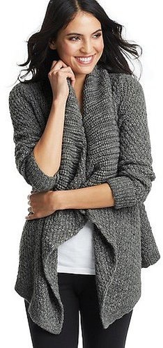 Oversized Shawl Collar Open Cardigan