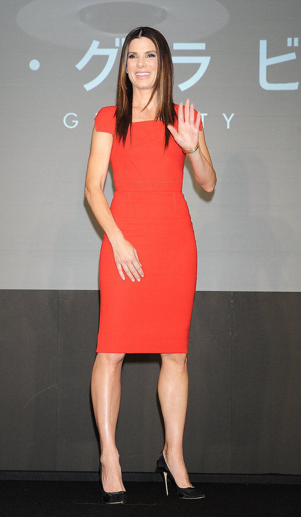 Sandra Bullock at a Gravity Press Conference in Tokyo
