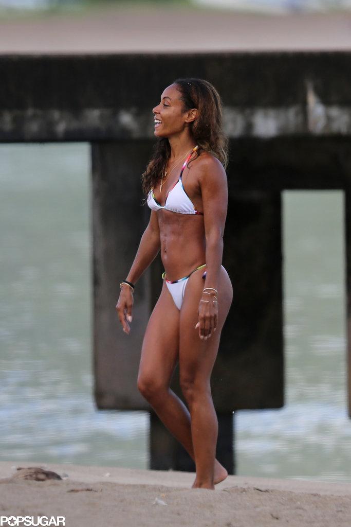 Jada Pinkett Smith donned a bikini in March when she hit the beach in Hawaii.