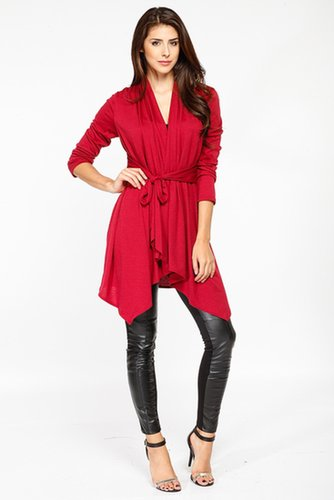 Long Over Sized Burgundy Cardigan - Back In Stock - What's New