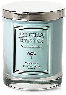 S/2 Veranda Short Candles, Linden & Fig