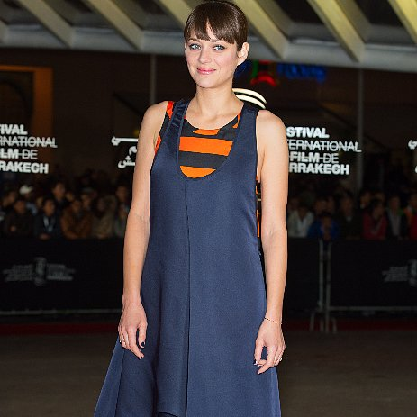 Marion Cotillard in Striped Dior Dress