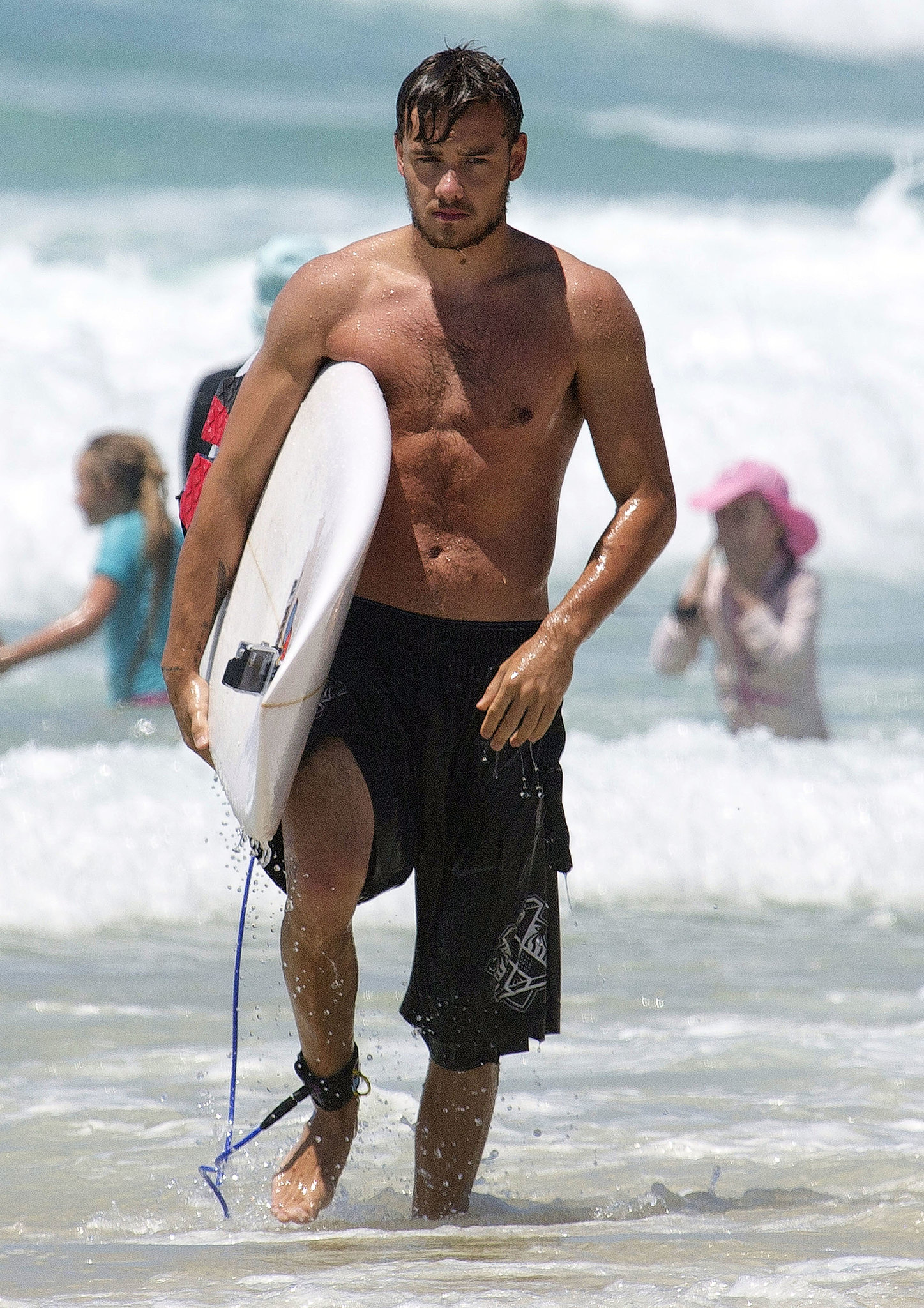 One Direction's Liam Payne went surfing in Australia in October.