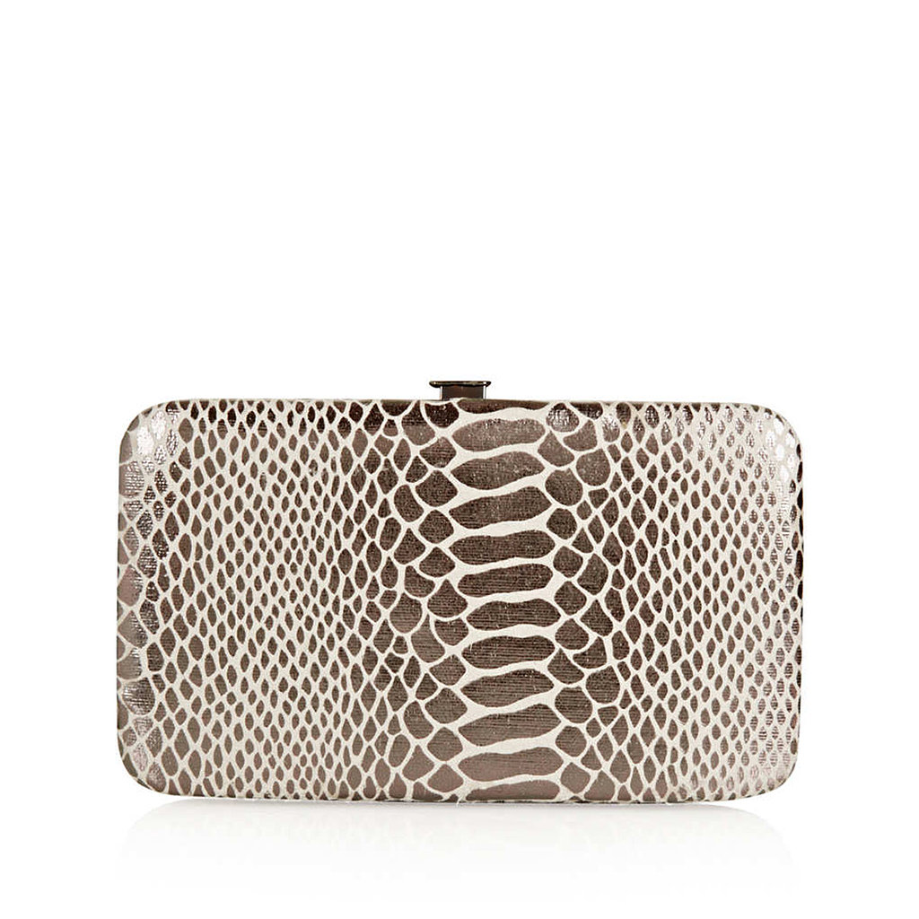 This Topshop clutch ($28) is part bag, part iPhone case, and completely stylish.
