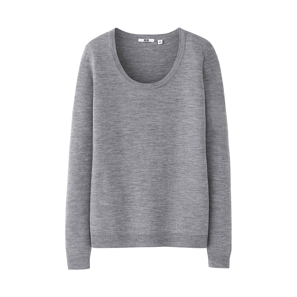 Everybody needs a classic merino wool sweater ($30), like this one from Uniqlo, in their Winter rotation.