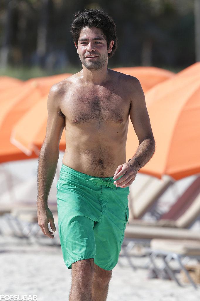 Adrian Grenier took in the Miami sun in December.