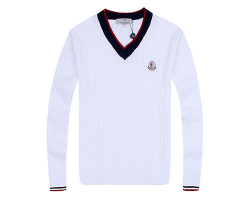 Moncler Mens Sweater College Silver White