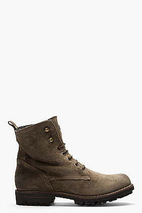 FIORENTINI + BAKER Taupe Distressed Suede Winter Jack-Jude-Mo Boots
