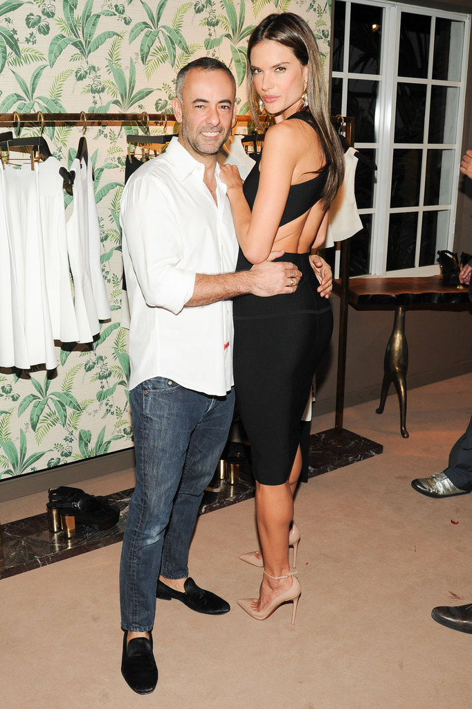 Francisco Costa and Alessandra Ambrosio at Calvin Klein's The Webster Miami party.