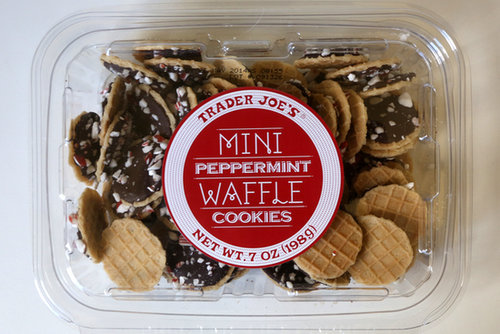 Trader Joe's Mini Peppermint Waffle Cookies