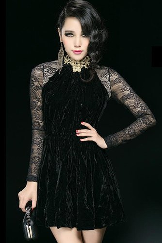 Graceful Lace A-line Dress - OASAP.com