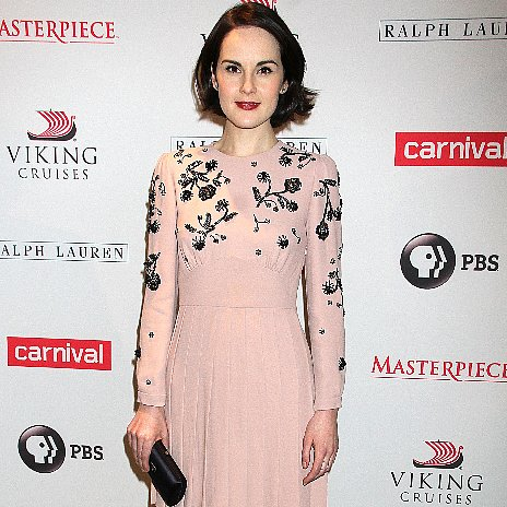 Michelle Dockery's Downton Abbey Season 4 Pink Dress