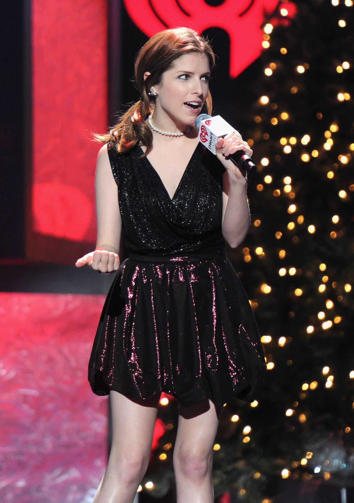 Anna Kendrick sang at the Z100 Jingle Ball.