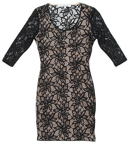 lovers + friends Sway Lace Dress in Black Lace