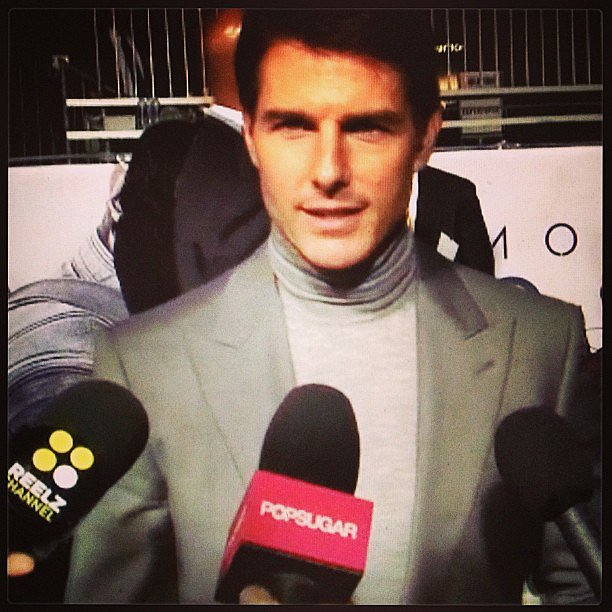 We caught up with Tom Cruise at the premiere of Oblivion.