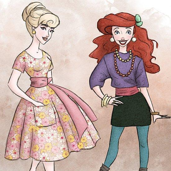 Disney Princess Illustrations 2013
