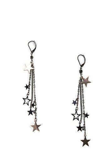 Stars chain earrings