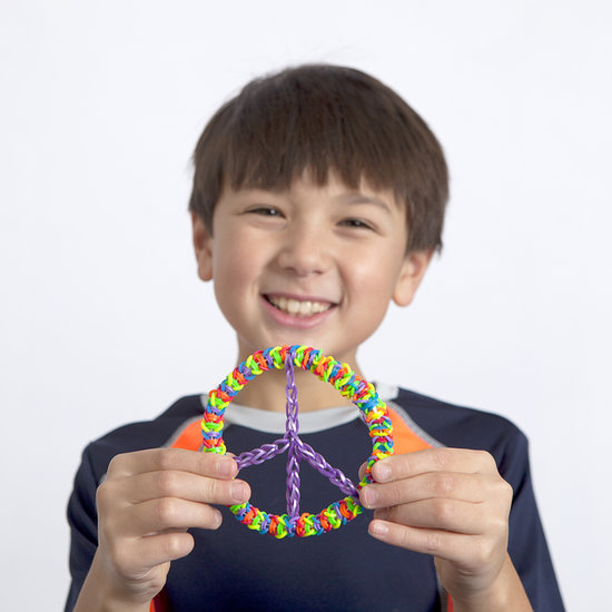 How to Make a Rainbow Loom Peace Sign