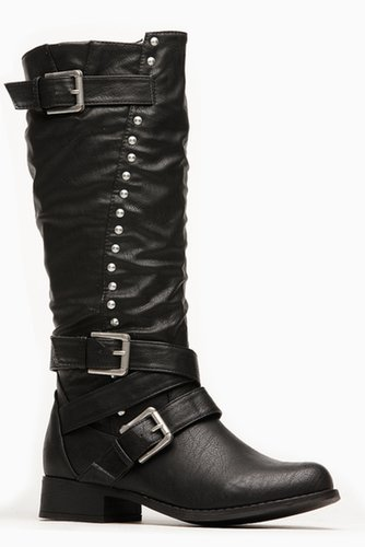 Wild Diva Metallic Stud Calf Boots @ Cicihot. Booties spell style, so if you want to show what you're made of, pick up a pair. H
