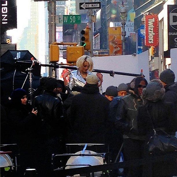Caught on set: Rita Ora for DKNY. Source: Instagram user donnakarandkny