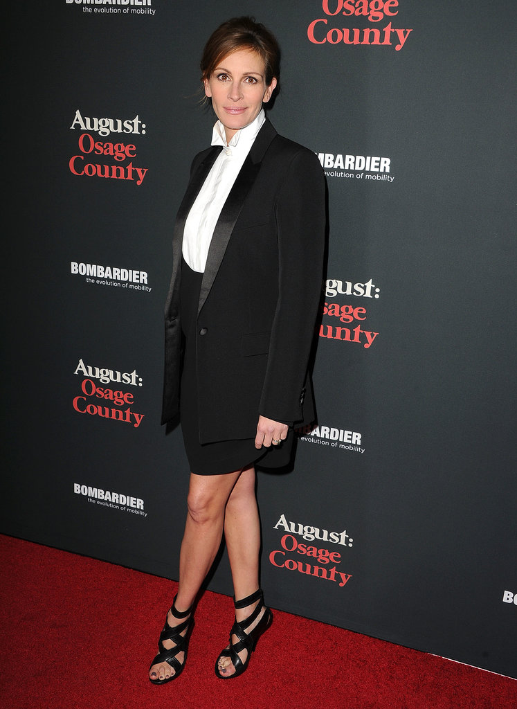 Taking a less direct but equally sleek approach, Julia Roberts suited up in Givenchy by Riccardo Tisci for August: Osage County.